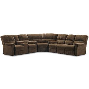 Lane Griffin 3 Piece Sectional with Storage Console