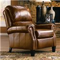 Lane Express Hogan Quick Ship Hi-Leg Recliner with Rolled Arms and Nailhead Trim - Angled View