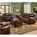 Lane Summerlin Quick Ship Dual Reclining Love Seat - Shown with Reclining Sofa
