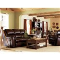 Lane Summerlin Quick Ship Power Reclining Sofa with Nailhead Trim
