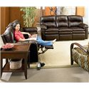 Lane Touchdown  Quick Ship Double Reclining Sofa with Center Console - Shown with Double Reclining Sofa