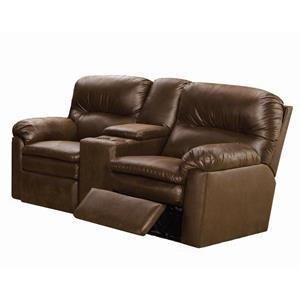 <b>Quick Ship</b> Reclining Console Sofa