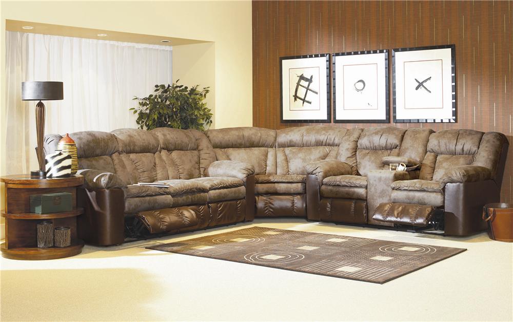 Lane Talon 249 04 39 43 Motion Conversational Sectional Miller Brothers Furniture Reclining