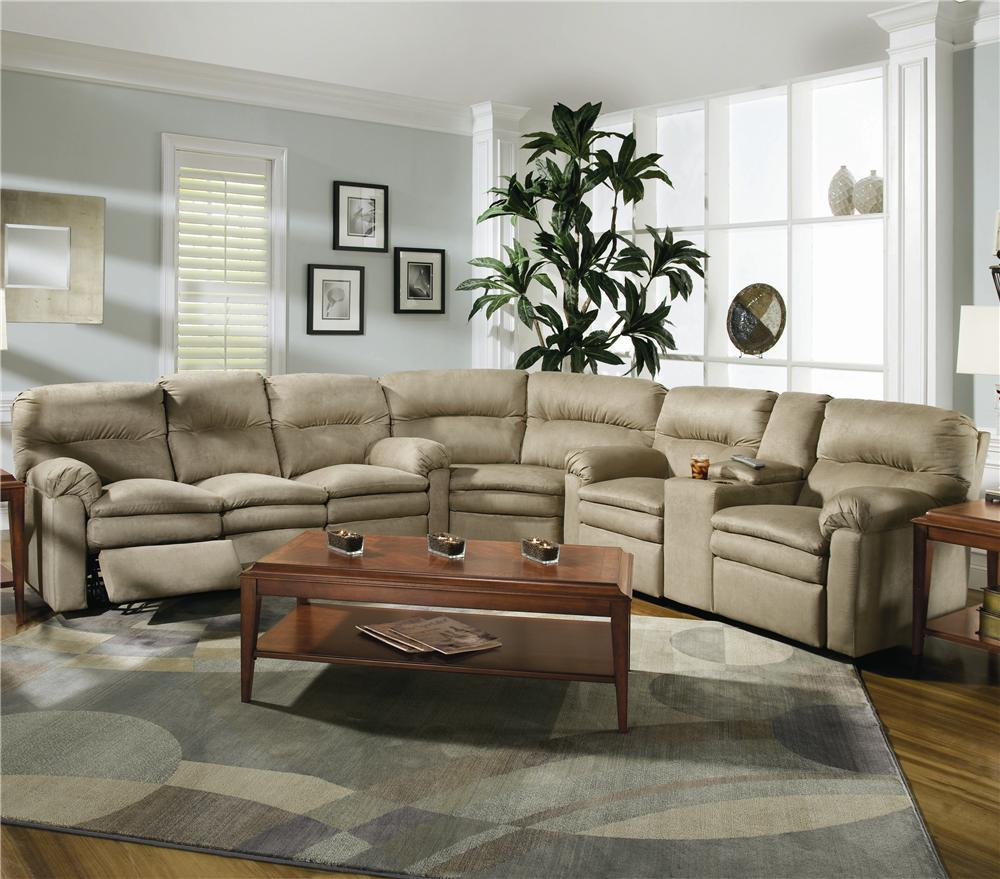 Lane Furniture Leather Sofa: Lane Touchdown Leather 3 Piece Sectional Sofa