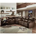 Lane Touchdown Leather 3 Piece Sectional Sofa - 292-43+04+39