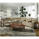 Lane Touchdown Double Reclining Console Sofa - Shown As Sectional Component With Wedge and Double Reclining Sofa