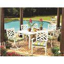 Lane Venture Belmeade Swivel Rocker Dining Chair with Geometric Chair Back Design