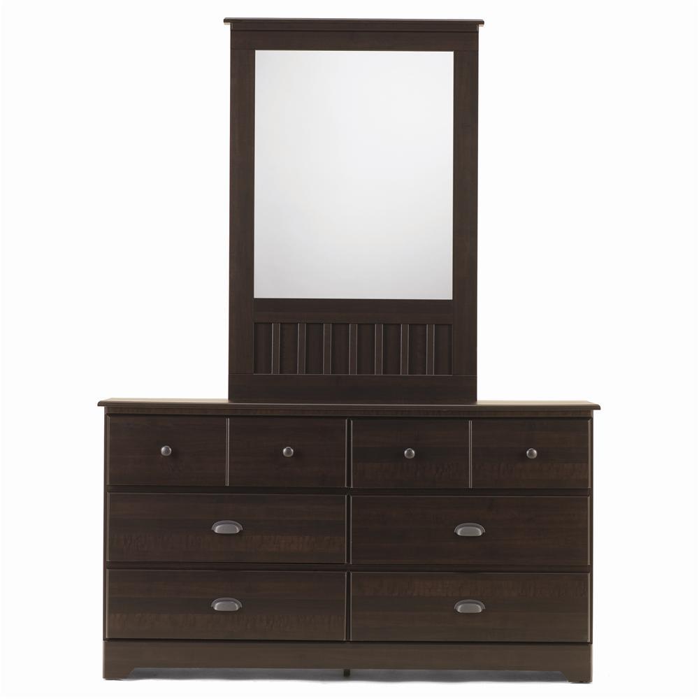6 Drawer Dresser & Framed Mirror