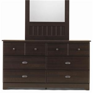 6 Drawer Dresser with Roller Glides