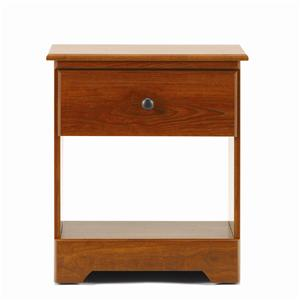 1 Drawer Nightstand with Roller Glides