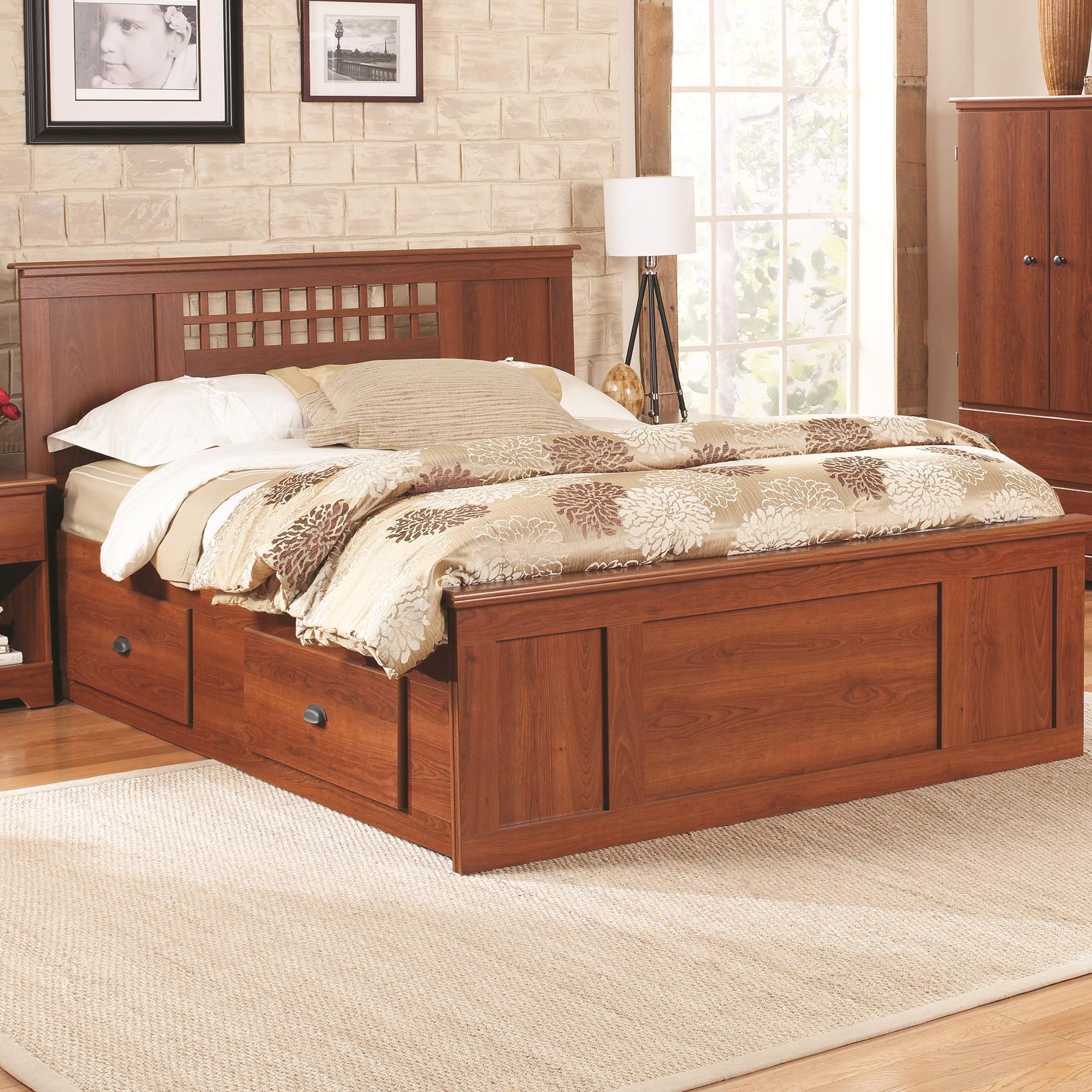 Queen Panel Captains Bed