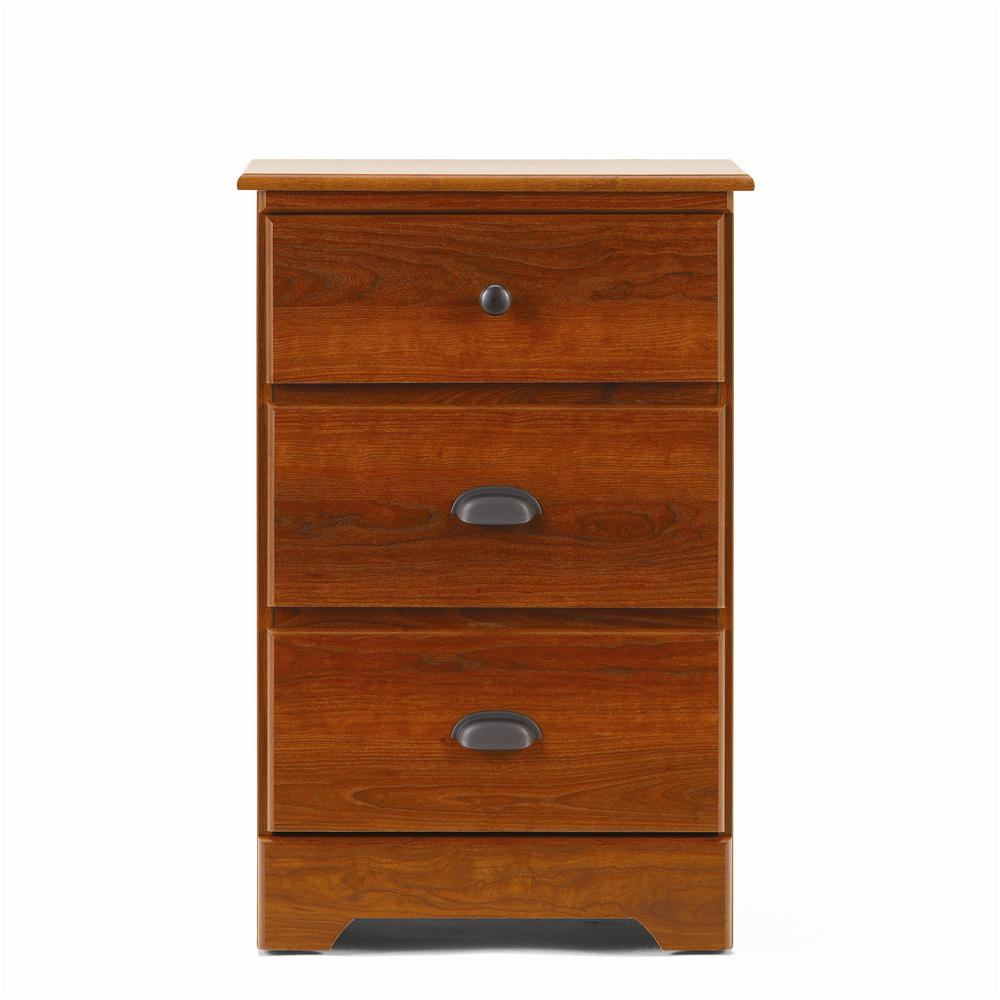 3 Drawer Nightstand with Roller Glides
