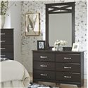 Lang Berlin Dresser and Mirror Combo - Item Number: BER-648+MR3048