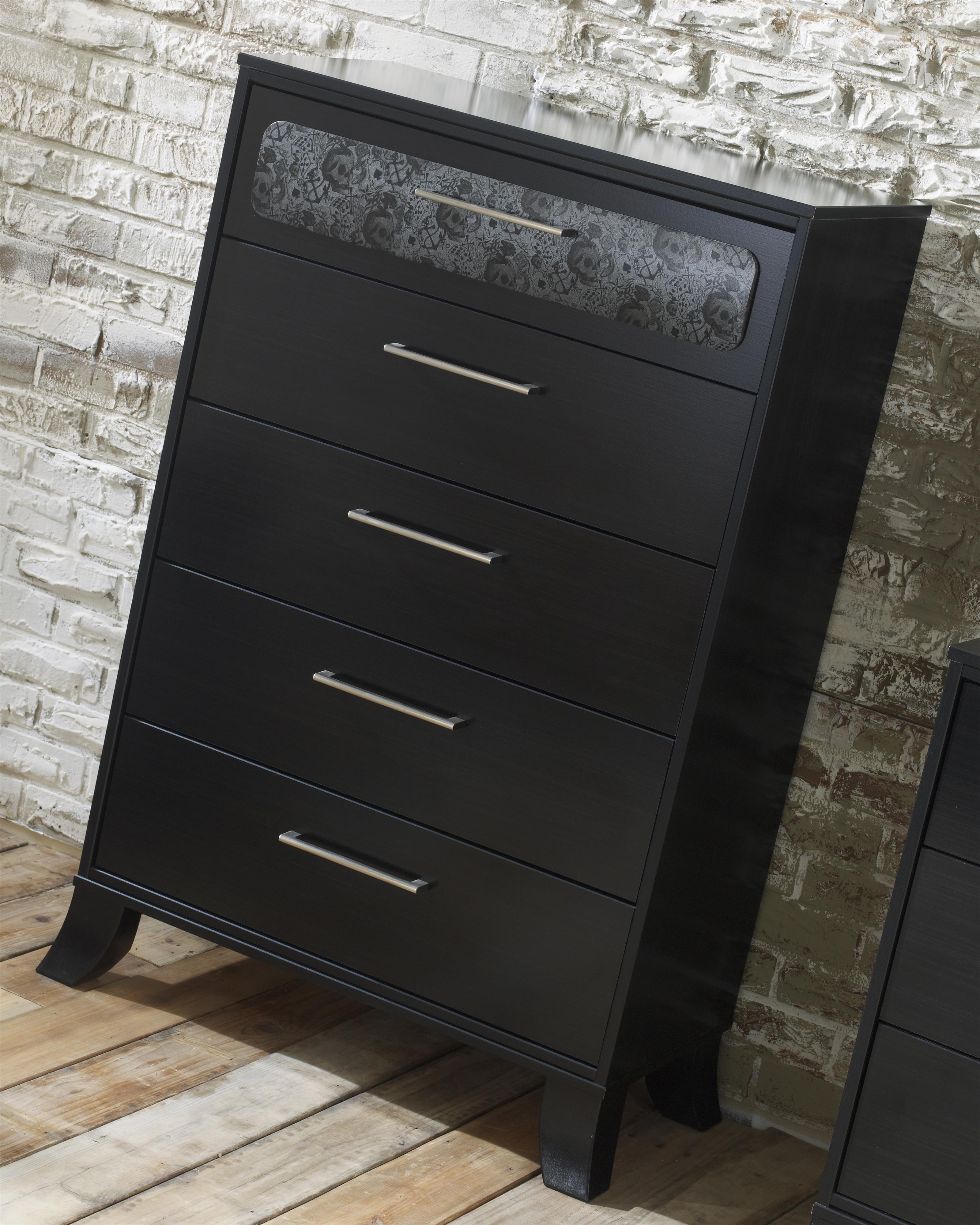 Lang Black Earth 5 Drawer Chest With Roller Glides Ahfa Of Drawers Dealer Locator