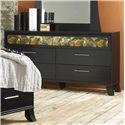 Lang Black Earth 6 Drawer Dresser with Roller Glides - BLA-655-ANA