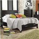 Lang Black Earth Full Jupiter Black Headboard & Footboard Bed with Storage Drawers - BLA-BA100-F - Bed Shown May Not Represent Exact Size Indicated