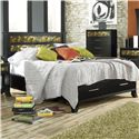Lang Black Earth Queen Jupiter Black Headboard & Footboard Bed with Storage Drawers - BLA-BA100-Q-ANA - Bed Shown May Not Represent Exact Size Indicated