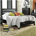Lang Black Earth Queen Jupiter Black Headboard & Footboard Bed with Storage Drawers - BLA-BA100-Q-TAT - Bed Shown May Not Represent Exact Size Indicated