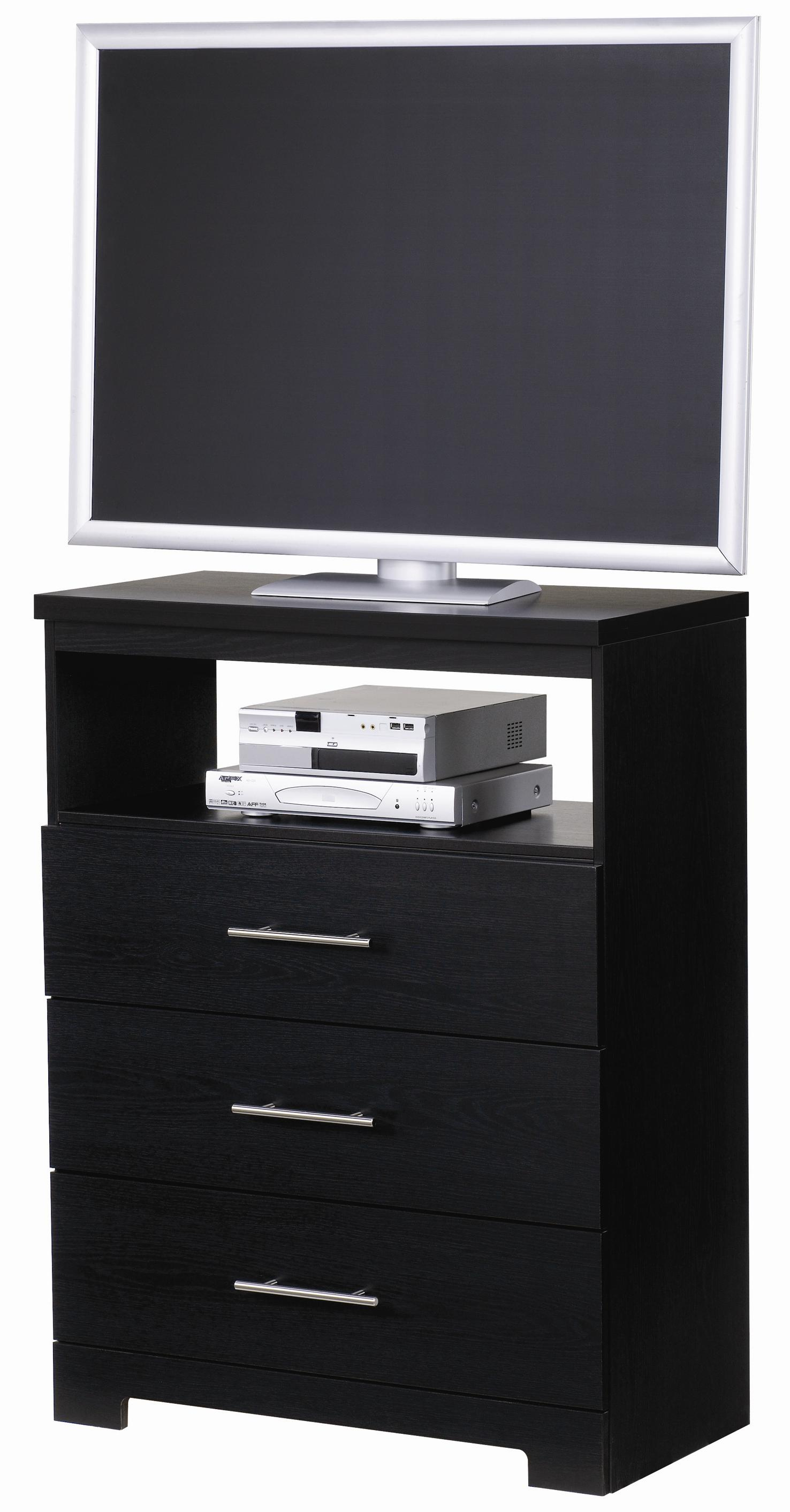 Brooklyn 3 Drawer Media Chest With Roller Glides By Lang