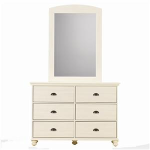 Dresser and Panel Mirror Combination