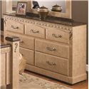 Lang Kenosha 7 Drawer Dresser with Roller Glides - KEN-759