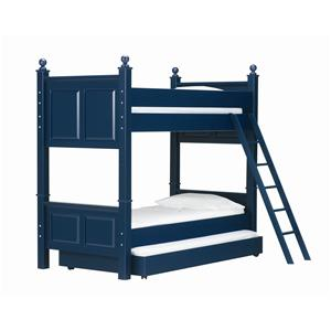 Twin Over Twin Bunk Bed with Trundle Bed