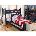 Lang Madison Twin Over Twin Bunk Bed Assembly - MAD-07-BBA70 - Shown with Twin Poster with Trundle, Night Stand, Two Bookshelves, and Desk, Some in an Alternate Finish
