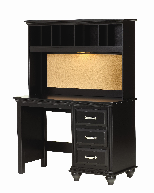 Lang Madison 4 Drawer Desk and Hutch with Light - AHFA - Desk ...