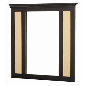 Bulletin Board Mirror with Supports