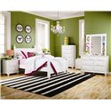 Lang Madison 2 Drawer Night Stand with Roller Glides - Shown with Poster Bed, 5 Drawer Chest, and Dresser with Mirror Combination