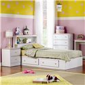 Lang Miami Twin 2 Drawer Storage Bed with Roller Glides - Item Number: MIA-04-24077