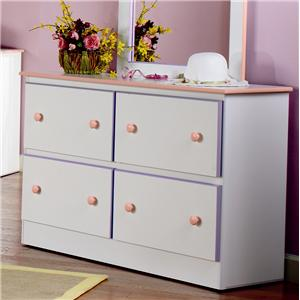 4 Deep Drawer Dresser with Roller Glides