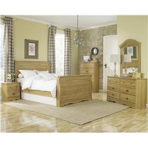 Lang Oak Creek Queen Sleigh Bed Bedroom Group