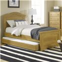 Lang Oak Creek Twin Panel Bed - Item Number: OAK-70-10-HFR-T+OAK-70-TRDL