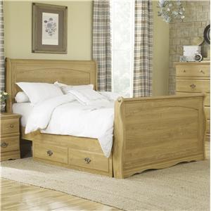 Lang Oak Creek King Sleigh Bed