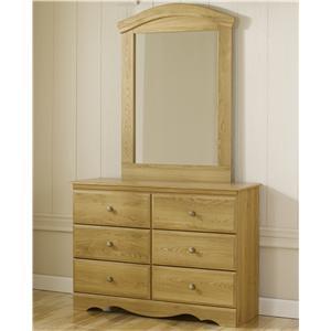 Lang Oak Creek Dresser and Mirror