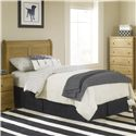 Lang Oak Creek Full Junior Sleigh Headboard - Item Number: OAK-70-HB24-F