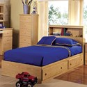 Lang Shaker Twin Bookcase Headboard w/ Mate's Bed Base - Item Number: SHA-70-3-3BC8+24077