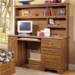 Lang Shaker Computer Desk with Tower Door and Hutch