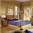 Lang Shaker Full/Queen Panel Headboard - Shown with Nightstand and Lingerie Chest