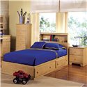 Lang Shaker 2 Drawer Nightstand - Shown with Mates Bed and Lingerie Chest