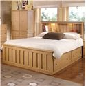 Lang Shaker Full Bookcase Bed with Under Bed Drawer Storage & Interior Lighting - Bed Shown May Not Represent Exact Size Indicated