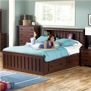 Lang Shaker Full Bookcase Bed
