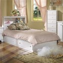 Lang Shaker Twin Bookcase Headboard w/ Mate's Bed Base - Item Number: SHA-W-3-3BC8+24077