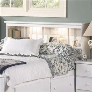 Lang Shaker King Book Case Headboard with Lights