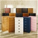 Lang Special 5 Drawer Chest with Roller Glides - Shown with All Available Color Options