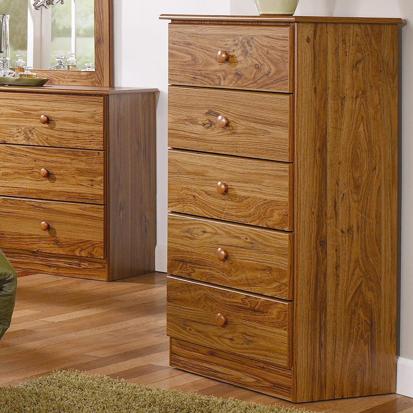 5 Drawer Chest with Roller Glides