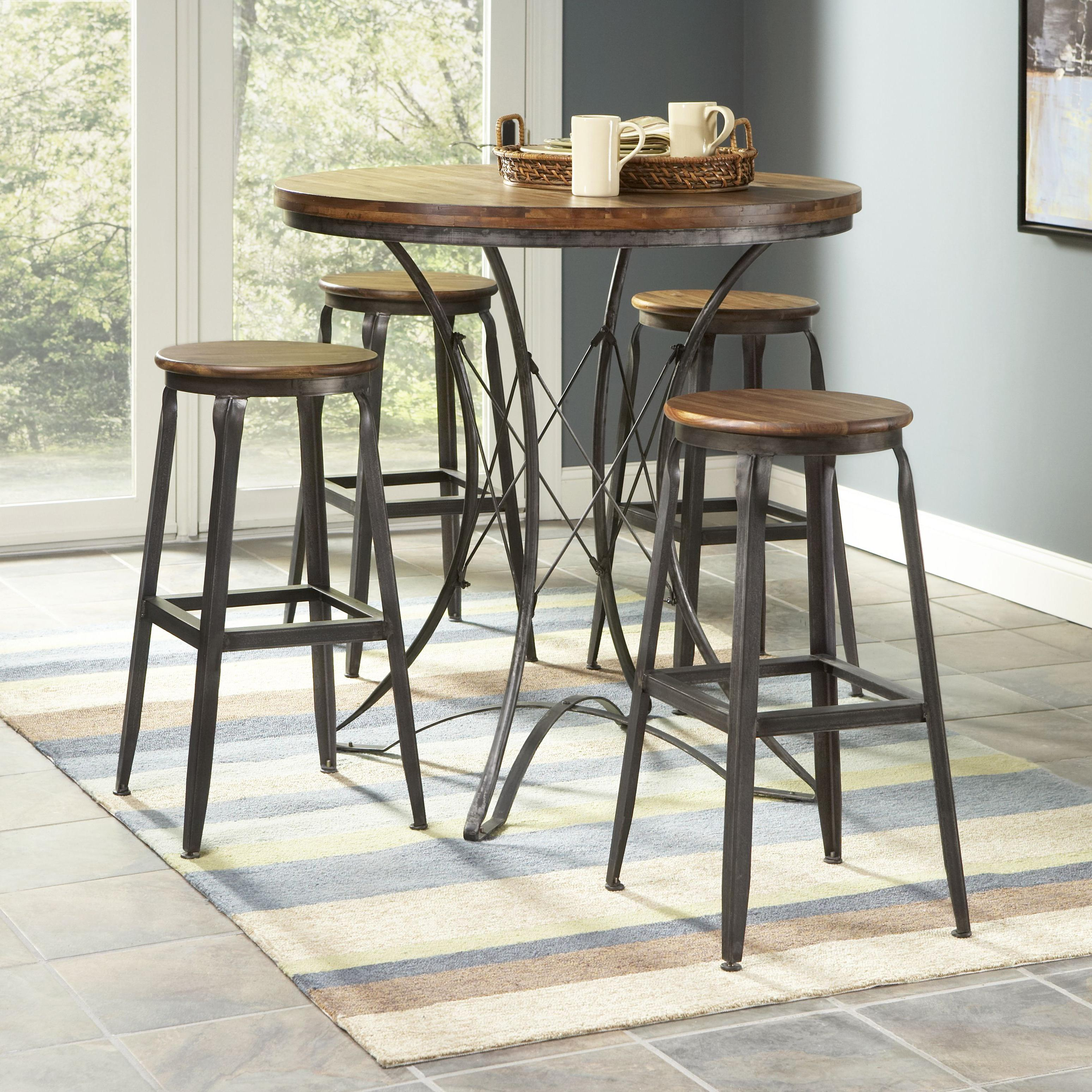 Largo Abbey 5 Piece Pub Table And Stools Set   Item Number: D272 36