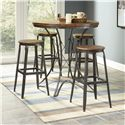 Largo Abbey 5 Piece Counter Table & Stools Set - Item Number: D272-36+4x22