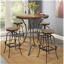 Largo Abbey 5 Piece Counter Height Dining Set - Item Number: D272-36+4x24